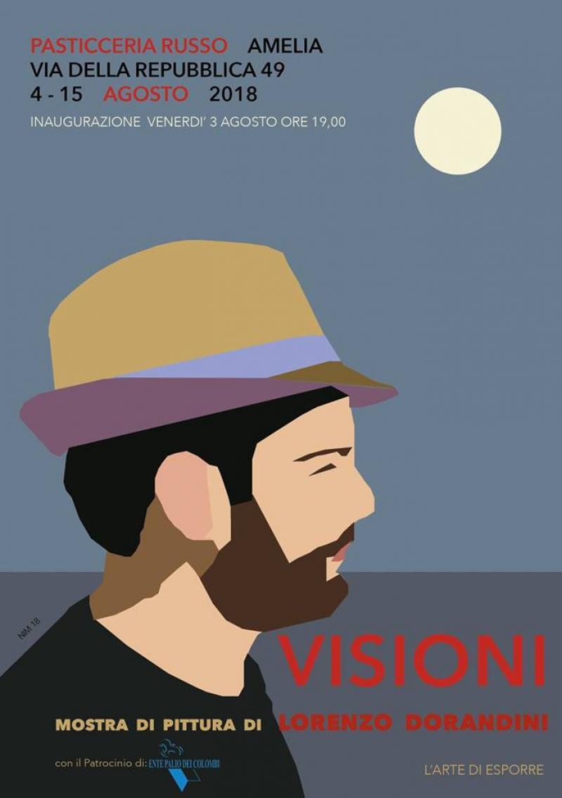 Locandina - Visioni: mostra di Lorenzo Dorandini